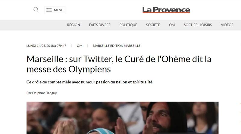 Le curé de l'Ohème dans La Provence