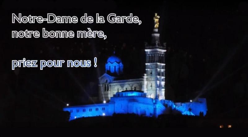 Prière à Notre-Dame de la Garde des supporters de l'OM